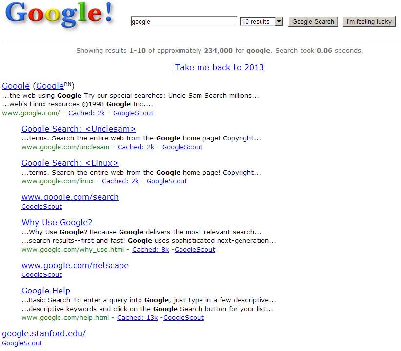 Google 1998 Easter Egg and Hummingbird Algorithm