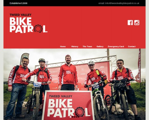 Web site design for local charity group Tweed Valley Bike Patrol - Glentress & Innerleithen