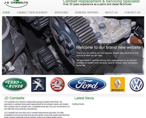 Web site design for Kent based garage