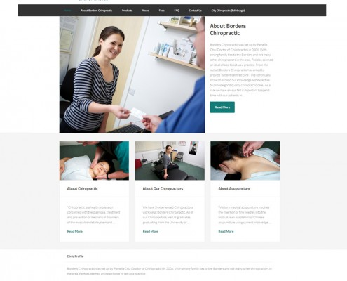 Web design for Peebles Chiropractor