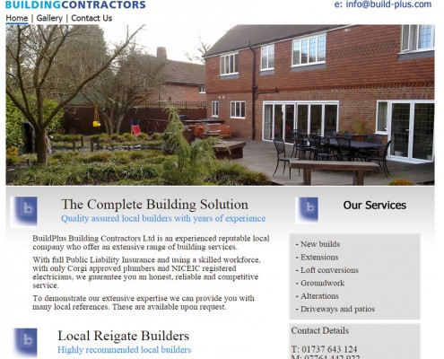 Web site design for Reigate Builders