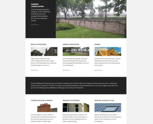 Straiton Building and Roofing web site design