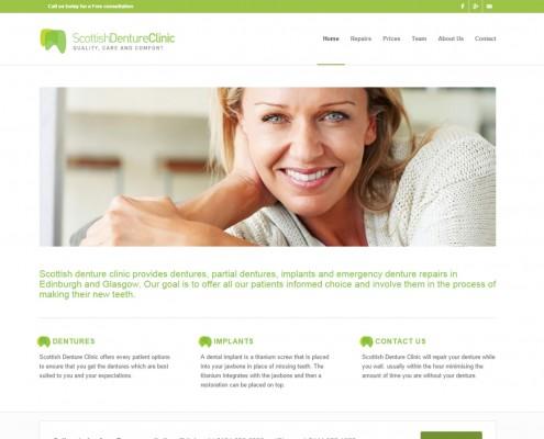 Web Site deisng for an Edinburgh Denture Clinic