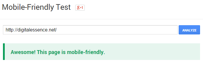 Test if your website is mobile-friendly