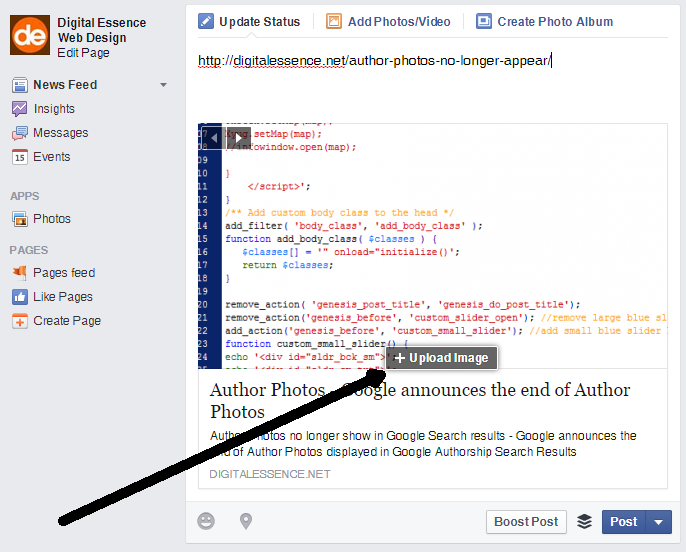 Facebook trialling new link preview image upload feature - Digital