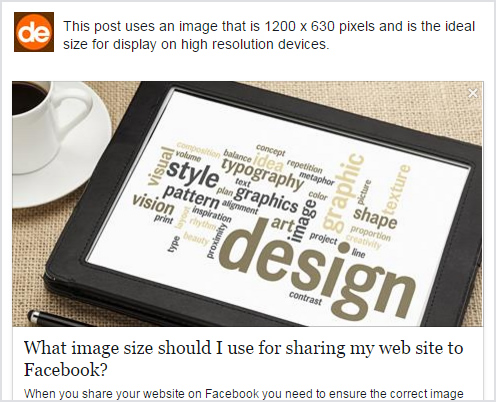 Guide to the best image dimensions for sharing a website to Facebook