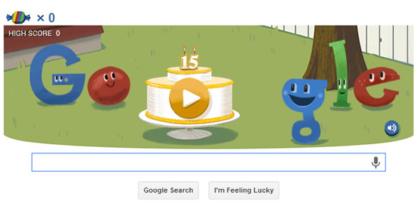 Google celebrate 15th birthday with Hummingbird