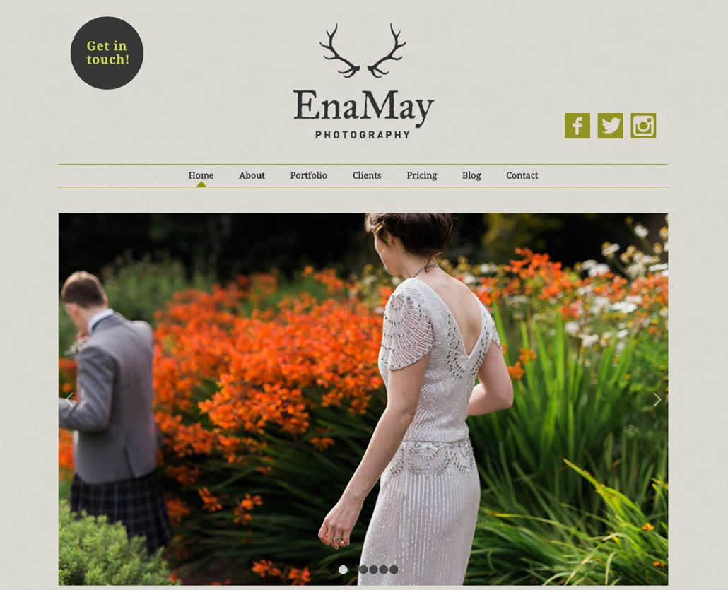 EnaMay Photography Innerleithen web site design and hosting