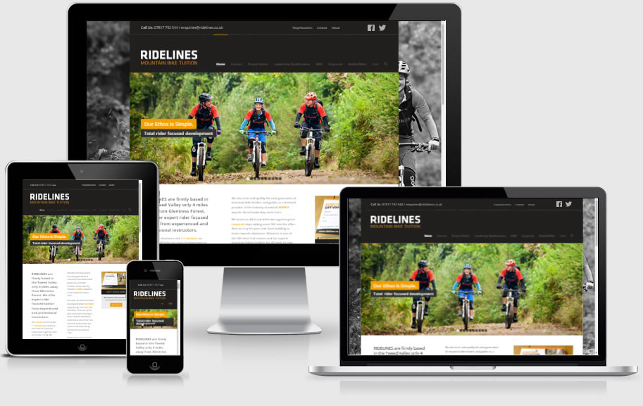 Responsive websites designed in Innerleithen