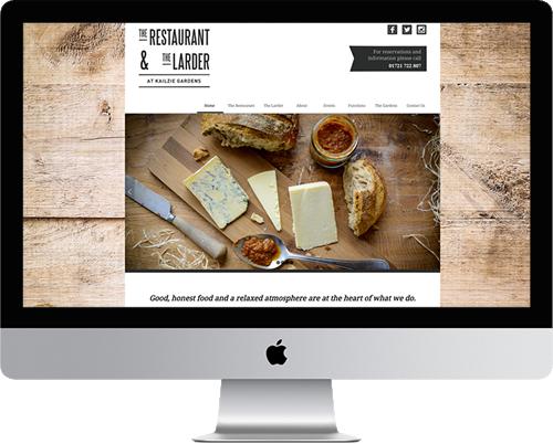 Kailzie Gardens Restaurant Web Site Design